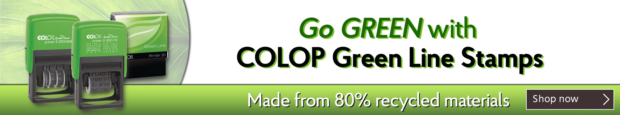 Go Green with COLOP Green Line Stamps