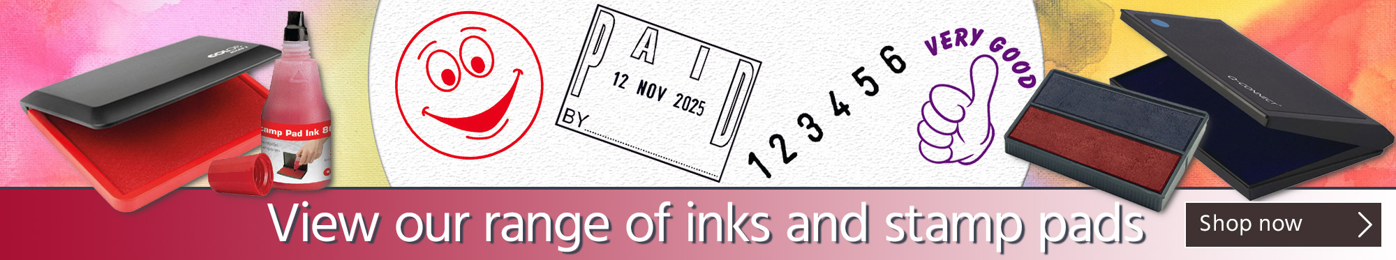 View Our Range of Inks and Stamp Pads