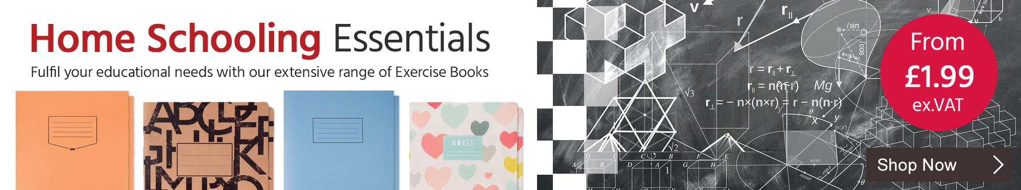 Fulfil Your Educational Needs with Our Extensive Range of Exercise Books