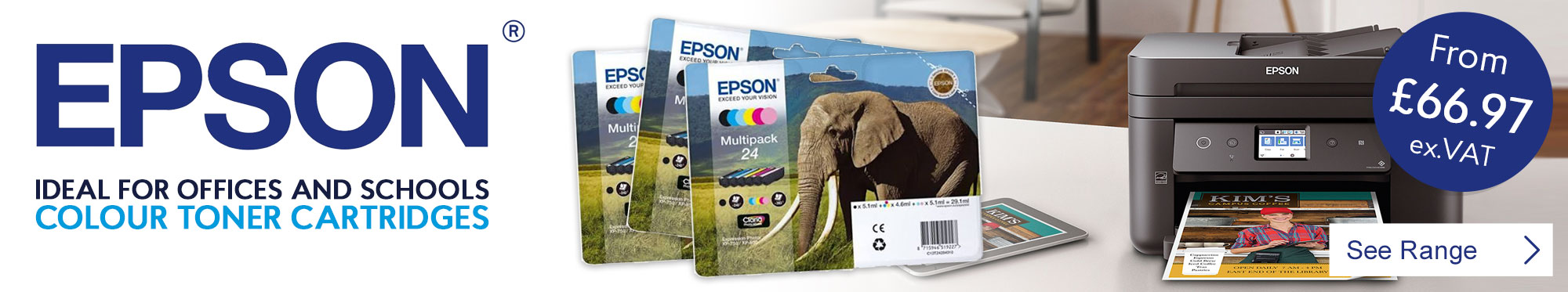 Ideal for Offices and Schools Epson Colour Toner Cartridges