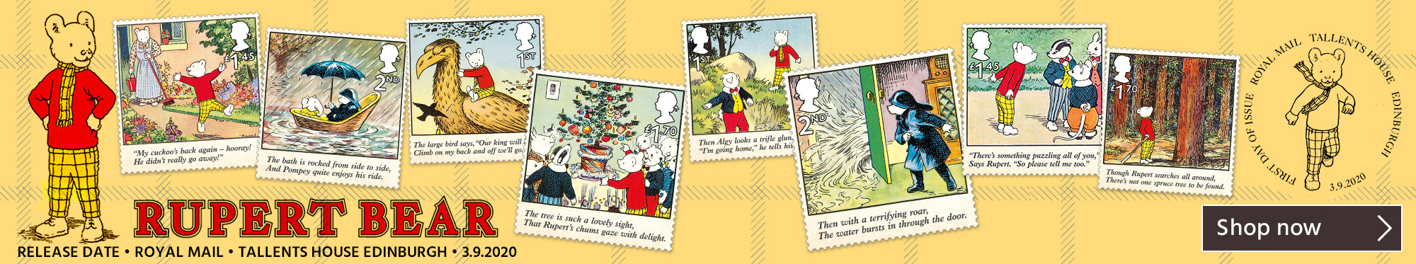 Marking 100 Years Since Rupert Bear First Appeared
