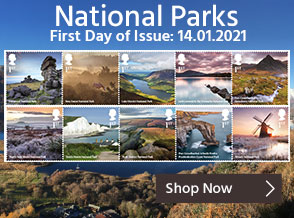 Explore beautiful landscapes throughout the UK with this Special Stamp Issue of National Parks