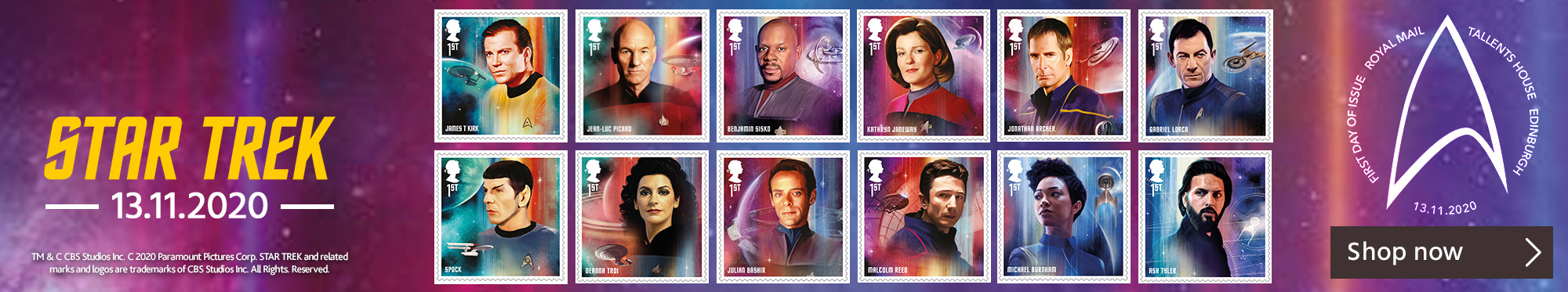 Star Trek Stamps and Collectibles Available Here