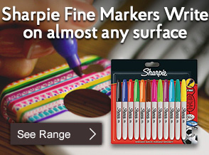 Sharpie Fine Markers Write on almost any surface!