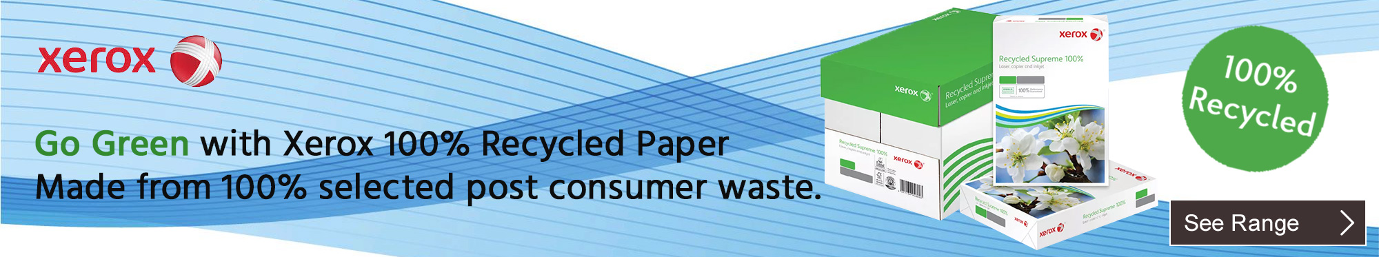 Go Green with Xerox 100% Recycled Paper