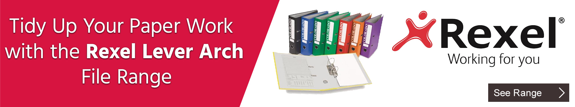 Tidy Up Your Paper Work with the Rexel Lever Arch File Range