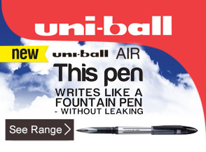 See range of uni-ball AIR rollerball pens