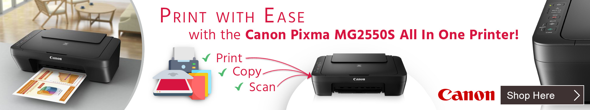 Print With Ease With The Canon Pixma MG2550S All In One Printer