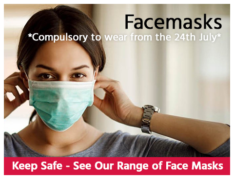 Facemasks - Compulsory to wear from 24th July
