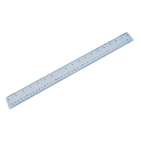 Plastic Shatterproof Ruler 50cm Clear <TAG>TOPSELLER</TAG>
