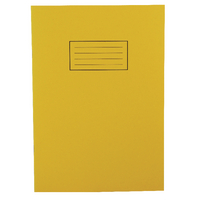 Silvine A4 Yellow Exercise Book <TAG>TOPSELLER</TAG>