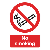 No Smoking (A5) Safety Sign <TAG>TOPSELLER</TAG>